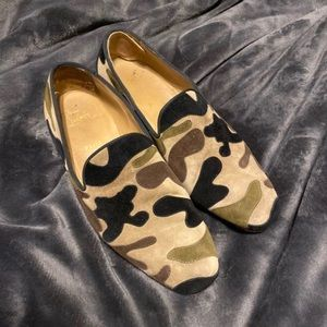 Authentic men's Christian louboutin camo loafers